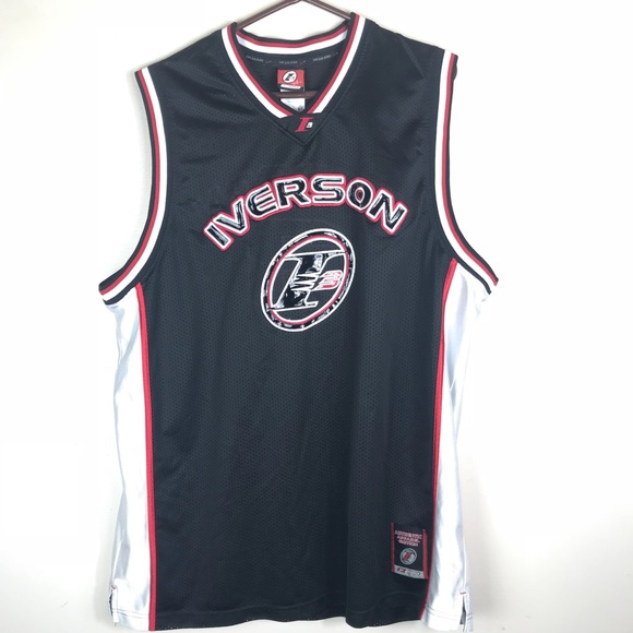 new concept e740b 5b2cc Reebok Iverson Collection XXL Jersey Sixers I=3